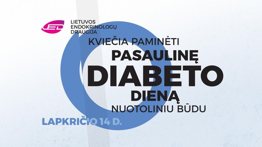 Kviečiame paminėti Pasaulinę diabeto dieną nuotoliniu būdu