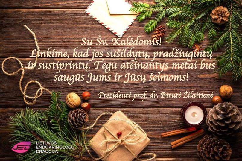 LED prezidentės šventinis sveikinimas