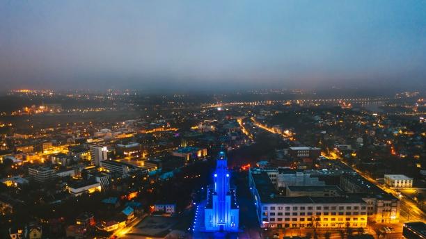 Minint Pasaulinę diabeto dieną Kauno Kristaus Prisikėlimo bazilika nušvito mėlynai