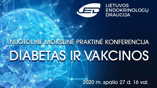 """Mokslinė praktinė konferencija """"Diabetas ir vakcinos"""""""